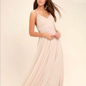 NTW Lulu's Carge Blanche Blush Pink Maxi Dress - S